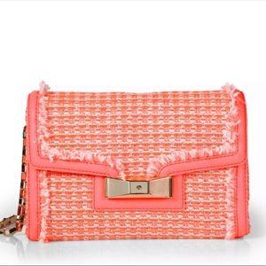 Kate Spade Scarlett coral/ pink tweed shoulder bag
